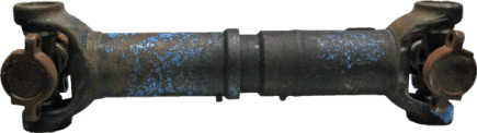Typical Interaxle shaft repair sample: Wear in yoke eyes, u-joint failure, clearance in slip section causing vibrations